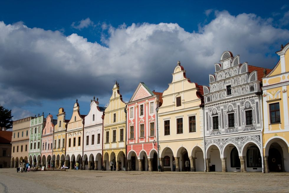 Architektura Domy na náměstí v Telči